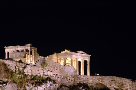 historic acropolis athens greece photo