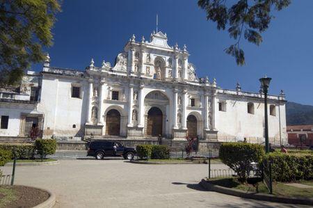cathedral de san jose antigua guatemala central america Stock Photo