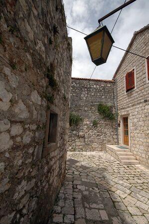 cobble: cobble strada in pietra hvar croazia europa