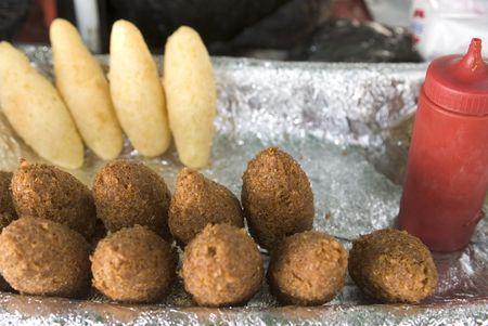 bign�: emanadas via alimentare, Johnny torte, frittelle dal venditore Dominican Republic