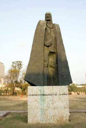 statue of gonzalo fernandez de oviedo military chronicler of the new world ozama fortelzza santo domingo dominican republic photo