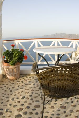 incredible: santorini casa chalet restaurante caf� patio comedor vista incre�ble griego islas
