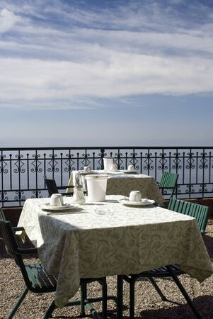 table for dining over the sea taormina sicily