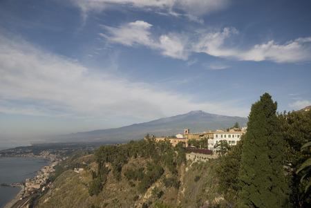 luxury villa hotel mt. etna taormina italy classic architecture sicily above giardini naxos harbor bay