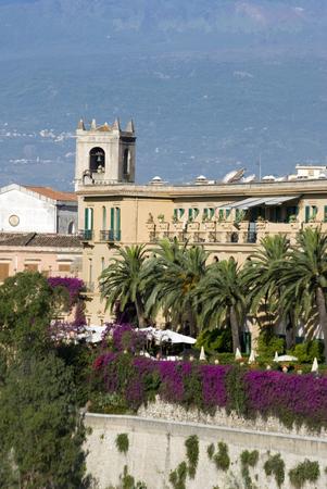 famous industries: luxury villa hotel taormina italy classic architecture sicily Stock Photo