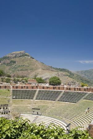 the greek-roman theater in taormina sicily italy