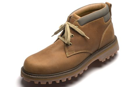 cushioned:  rugged pair of mens outdoor boots for fall or winter