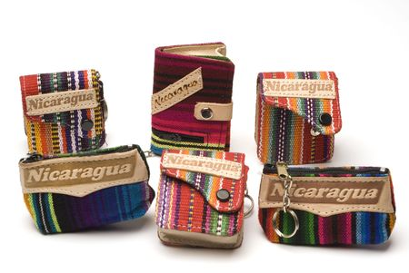 change purses: variety souvenir change purses knitted nicaragua central america