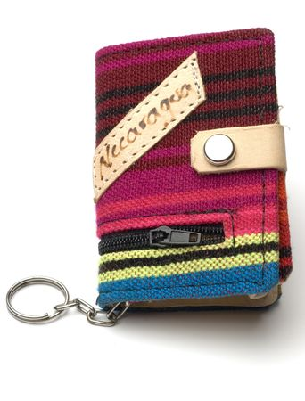 souvenir change purse knitted nicaragua central america Stock Photo