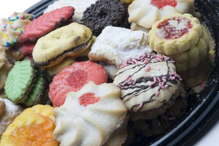 jimmies: cookies sweets in festive holiday xmas  colors and shapes Stock Photo