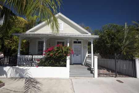 west usa: typical house architecture key west florida famous tourist destination