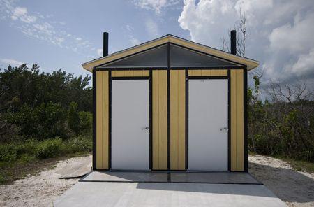 outhouse: outhouse toilets coco plum beach marathon florida keys