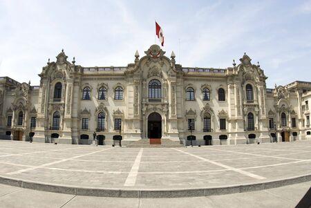 政府宮殿にリマ、ペルーのピサロ パラシオ ・ デ ・大統領府大統領家の政府の家の家