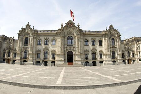 peru architecture: government palace lima peru house of government house of pizarro palacio de gobierno presidential home