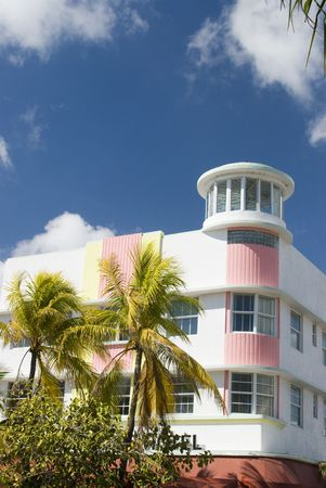 rejuvenated: hotel art deco architecture style south beach miami florida usa Stock Photo