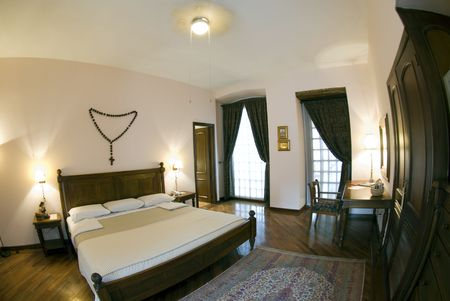 luxury hotel room quito ecuador 600 year old classic period furniture Stock Photo - 2737697