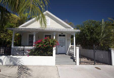 typical house architecture key west florida famous tourist destination photo