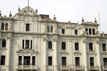 peru architecture: classic architecture old grand hotel on plaza san martin lima peru Stock Photo