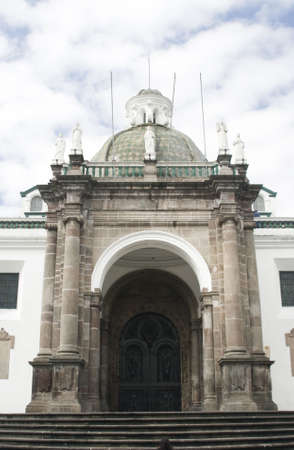 presidential: national cathedral church on plaza grande by presidential palace quito ecuador south america Stock Photo