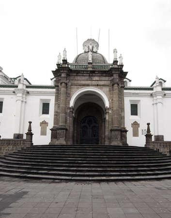 presidential: national cathedral plaza grande quito ecuador by the national presidential palace south america Stock Photo