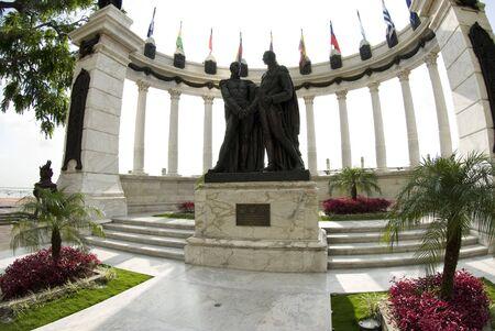 guayaquil: la rotunda statue monument on malecon 2000 guayaquil ecuador