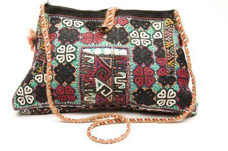 pocketbook: hand made shoulder bag pocket-book kilm produced in turkey Stock Photo