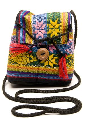 knitted hand made change purse handbag produced in honduras central america Reklamní fotografie