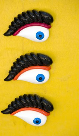 repel:  eyes of osiris souvenirs symbolic to repel problems on display board for sale malta europe