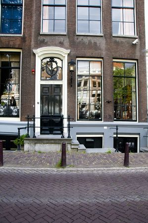 the otto frank house where his family and daughter anne frank hid from the nazis in amsterdam during world war II  版權商用圖片