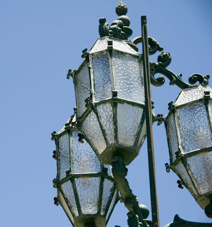 streetscene: malta maltese  historic iron street lamp valletta capital