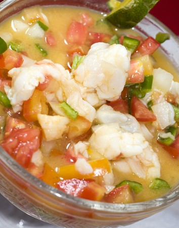 nicaraguan: lobster ceviche cebiche seviche fresh citrus marinated corn island nicaragua central america