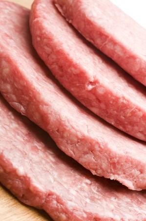 hamburger chopped meat patties raw 14 pound photo