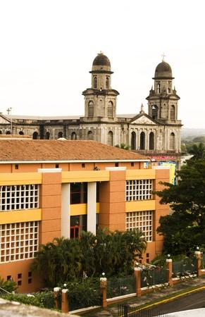 santo: La Casa de Los Pueblos Presidential House Office and Old Cathedral Santo Domingo  Managua Nicaragua Central America