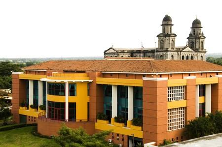 america centrale: La Casa de los Pueblos presidenziale Ufficio Casa e vecchia cattedrale di Santo Domingo, Nicaragua Managua America centrale