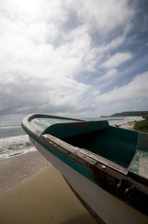 long bay: fishing boat long bay caribbean sea corn island rural nicaragua