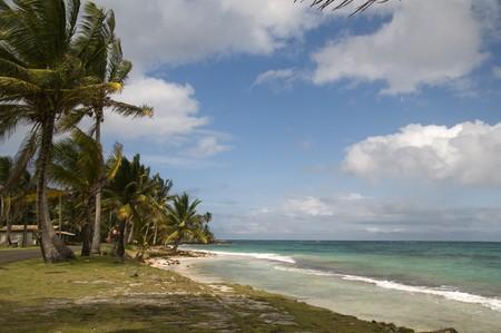 sallie peachie beach on the malecon highway rural corn island nicaragua caribbean sea Stock Photo - 4000950