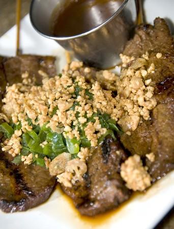 Vietnamese food appetizer bo nuong sate grilled beef on skewer food Stok Fotoğraf