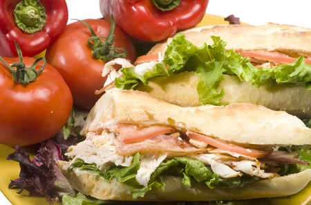 gourmet buffalo chicken sandwich panini bread bacon bleu cheese photo
