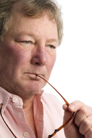 middle aged man in thought handsome good looking senior Stock Photo - 4475673