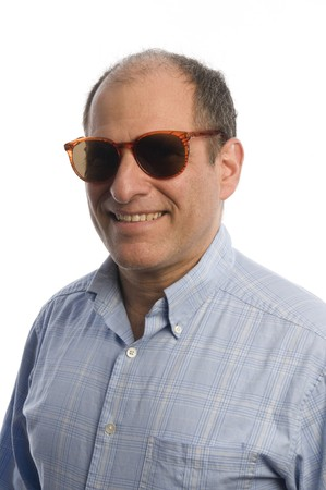 happy middle age senior man portrait smiling sunglasses Stock Photo