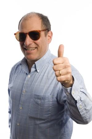 business management senior executives with positive hand sign thumbs up photo