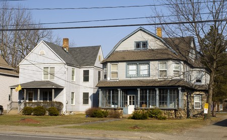 residential house typical architecture rural upstate rustic sloatsburg new york usa Stock Photo - 4512968