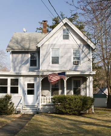 residential house typical architecture rural upstate rustic sloatsburg new york usa 版權商用圖片