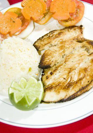 america centrale: pollo alla griglia fotografato l'isola di mais in America centrale Nicaragua pollo a la plancha