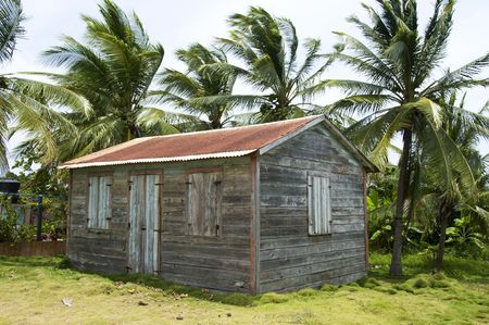 native clapboard house with zinc metal roof little corn island nicaragua central america  Stock Photo - 4813625