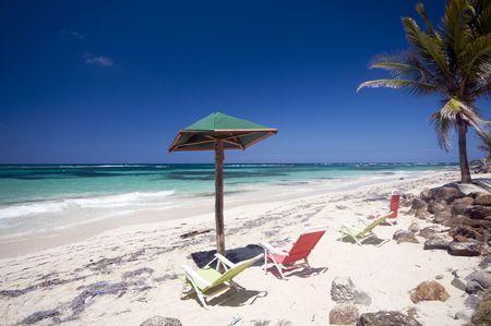 barren  sallie peachie beach on the caribbean sea big corn island nicaragua central america Фото со стока - 4813739
