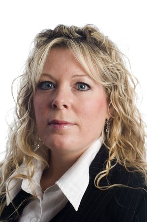 age forty: female business executive portrait head shot Stock Photo