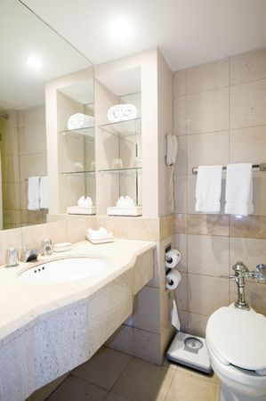 luxury bathroom: bathroom with scale in luxury hotel in managua nicaragua central america