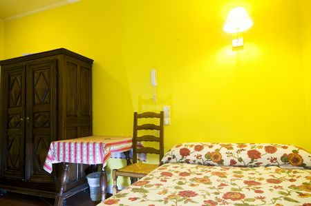 two star hotel single room in the latin quarter area of paris france photo