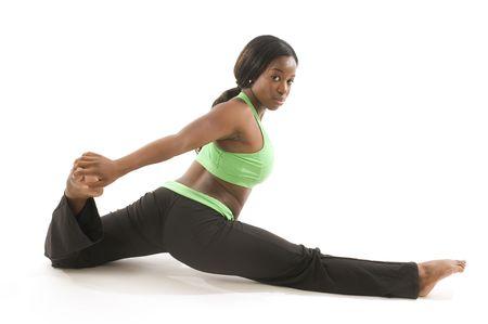 n�cleo: latina joven y hermosa mujer hispana negro con medias de ejercicio y de trabajo con movimientos de danza de ballet